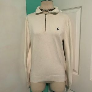 Polo by Ralph Lauren White Cotton Sweater
